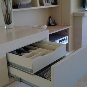 designer double drawer