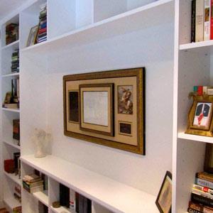 designer library bookshelves