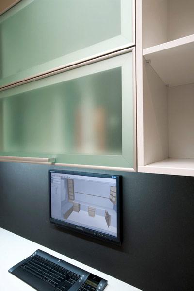 Aventos double lift up glass doors