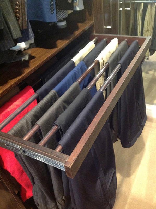 Spaceworks customised trouser racks