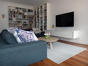 bookcase and sleek media units