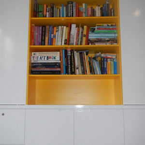 bookshelves and storage cabinetry