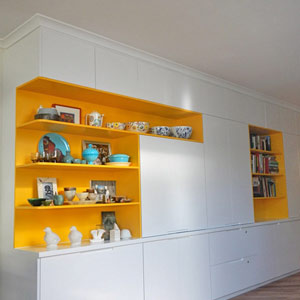 bookshelves and storage cabinets