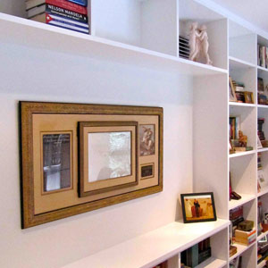 designer library room