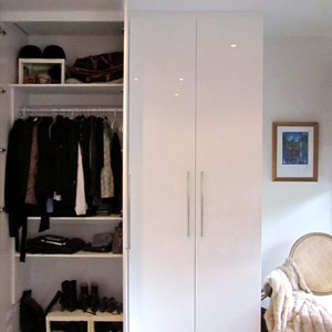 entertainment unit and wardrobe