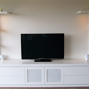 entertainment units with wardrobes