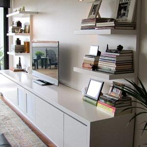 floating shelves design