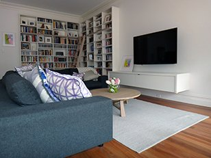 bookcase and sleek media units