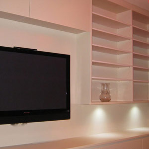 led down lights with media unit