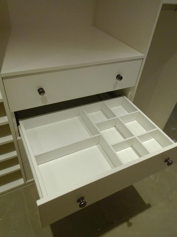 Customised drawer partitions