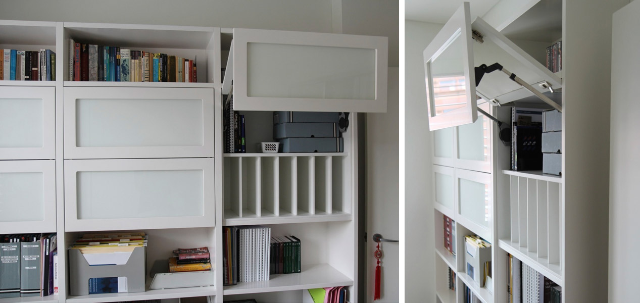 Lift-up cupboards in Custom Office