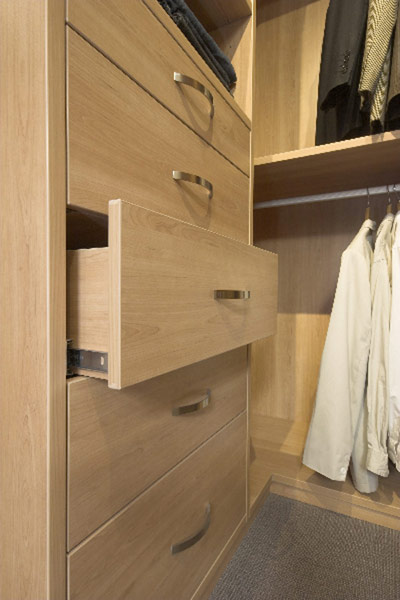 Drawers in Walk in robe