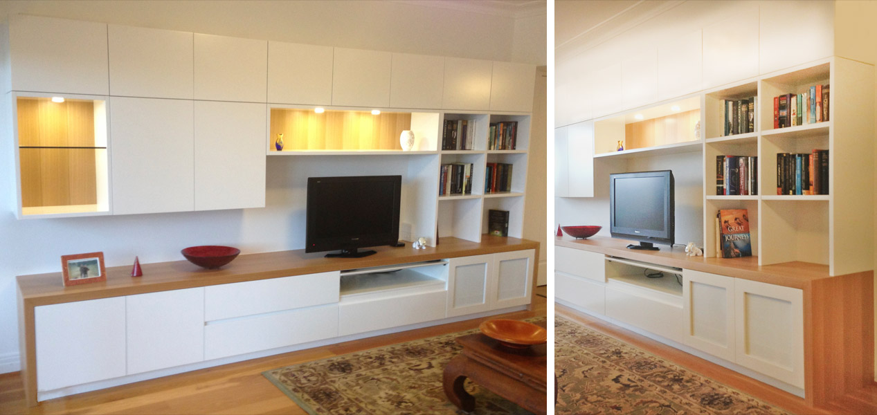 White Tv Unit Design