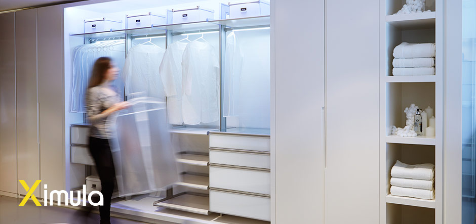 modular built in wardrobe